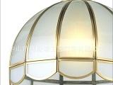 餐厅欧式吊灯 简约半圆小吊灯 全铜焊锡灯