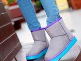 【伙拼】2013新款雪地靴绒面短靴超柔毛绒保暖低筒磨砂女鞋