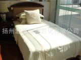 宾馆酒店床上用品批发定做白色全棉三四件套旅馆客房布草被套床单