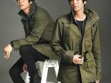 2014超爆秋冬新款日韩街头潮流风衣外套棉时尚男士风衣