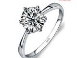 情人节爆款 纯银饰品 925纯银戒指女 超闪八心八箭六爪结婚钻戒