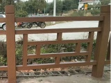 仿木铺板水泥栏杆艺术围栏景区护栏仿木护栏水泥仿木栏杆