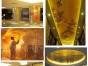 空间隔断装饰过道玄关酒店会所餐厅前台墙画挂画移动背景墙屏风