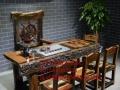 包头市老船木家具茶桌办公桌餐桌椅子实木沙发茶几茶台鱼缸博古架