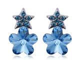 【意高】采用施华洛世奇元素水晶 星之梅恋 耳钉 耳饰批发定制