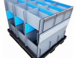 可定制灰色围板箱,汽车配件围板箱物流箱,中空板围板箱