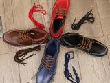 新款大头男鞋 秋季休闲鞋真皮潮鞋系带耐磨中帮鞋工装鞋一件代发