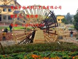 重庆防腐木水车 景观水车 电动水车 脚踏水车生产厂家
