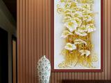 新款印花蒙娜丽莎KS品质 较新款十字绣 华丽百合花竖版客厅十字绣
