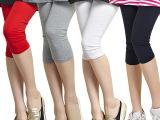 2015夏装新款韩版显瘦七分打底裤大码女式