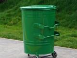 河北绿美240升垃圾箱 240L圆形方形垃圾车垃圾箱