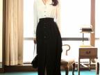 2014春季新款长袖休闲长款连衣裙  气质女裙  仙