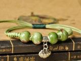 景德镇陶瓷手链 手工编织珠串手链 手饰品批发  厂家爆款。