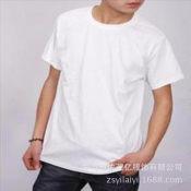 订做圆领衫 纯色圆领T恤衫文化衫 短袖纯棉圆领T恤衫