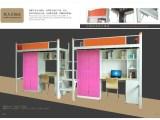 东莞学生公寓床生产厂家,2017新款木纹床