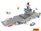 军事航母 乐高式积木变拼插启蒙益智3-6周岁拼装玩具小孩儿童玩具