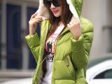 2014冬季新品轻薄时尚羽绒棉外套连帽棉衣短款修身棉服