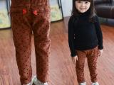 【小酷熊】2014年冬季新款童装 圆点平绒休闲裤 卖裤子送皮带