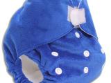 超柔短毛绒宝宝婴儿布尿裤单纯色颜色任选可调节均码透气防水批发