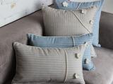 春季新品 韩式风格条纹格子花朵沙发抱枕套 汽车靠垫 床头靠包