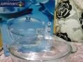 乐美雅全钢化耐热水晶锅(带盖碗)2.5L