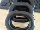 高周波热压椭圆形TPU吸塑成型硅胶军用耳机皮耳套 生产厂家