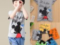 浙江服装批发市场最可爱儿童T恤批发小朋友夏季服装短袖套装批发