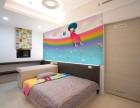 手绘墙画太原彩绘墙画太原儿童房彩绘墙画手绘床头壁画