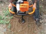 园林种树机 植树专用机 小型打桩机便携式挖坑机 曲阜一九机械