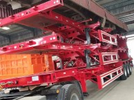 甘孜40英尺  48英尺集装箱骨架半挂车专卖货车厂家