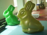 PVC充气兔子,PVC充气玩具,PVC充气广告模型