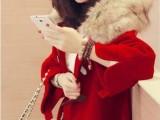 女装批发韩版毛呢子加厚大衣学院风宽松斗篷短款毛呢外套一件代发