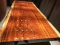 原木大板实木家具餐桌茶桌办公会议桌巴花黄花梨鸡翅木