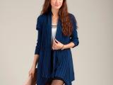 2014新款韩版宽松大码毛衣 女休闲中长款外套披肩针织衫一件代发