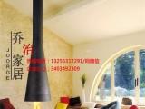 湖北武汉定制悬挂异形壁炉 燃木真火壁炉