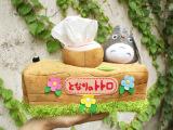 车用纸巾盒可爱龙猫毛绒公仔卡通布艺纸巾抽挂式卷纸器/纸巾架