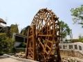 西安聚龙御宝脚踏式水车,景观水车,防腐木水车,室内水车