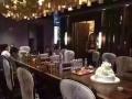 南美胡桃木乌金木原生态办公桌餐桌烘干新中式实木家具