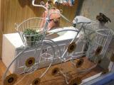 欧式铁艺多层落地大自行车花架 服装影楼商店橱窗装饰道具摆件