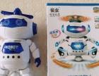 智能跳舞音乐机器人儿童360度旋转电动玩具灯光