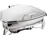 正品大号感应式不锈钢扇形酒店自助餐炉 保温布菲炉 豪华早餐炉