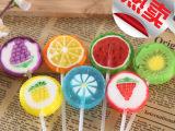 金稻谷糖果 20克韩式正品创意水果味切片水晶棒棒糖 波板糖批发