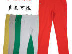 秋季女裤 百搭弹力糖果色纯色高腰紧身小脚裤铅笔裤打底裤休闲裤