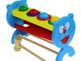 卡通猫敲球台 敲打台 儿童早教木制益智宝宝打地鼠玩具1-3岁特价
