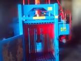 鸿运牌半自动废纸箱立式打包机 自动推包速度快