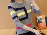 新款短款毛衣长袖外套女装套头冬季女士打底衫女秋冬针织衫新品