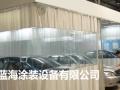汽车烤漆房上门安装/山东蓝海烤漆涂装设备厂质量保证
