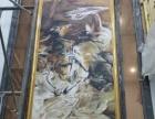 黄石别墅装饰字画现货、手绘国画书法、油画水彩定制裱框批发