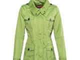 木林森(mulinsen)女装风衣外套短款连帽防水户外休闲上衣
