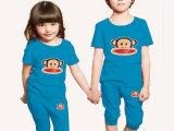 童装夏季男童女童短袖短裤套装纯棉卡通图案儿童套装地摊一件代发